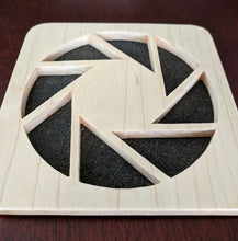 Load image into Gallery viewer, Portal Aperture Hand Cut Wooden Deskoration