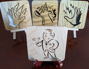 BioShock Plasmid Video Guy - Hand Cut Wooden Deskoration