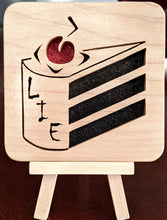 Load image into Gallery viewer, Portal 'Cake is a Lie' Hand Cut Wooden Deskoration