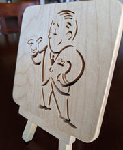 Load image into Gallery viewer, BioShock Plasmid Video Guy - Hand Cut Wooden Deskoration