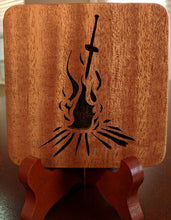 Load image into Gallery viewer, Dark Souls Bonfire Hand Cut Wooden Deskoration