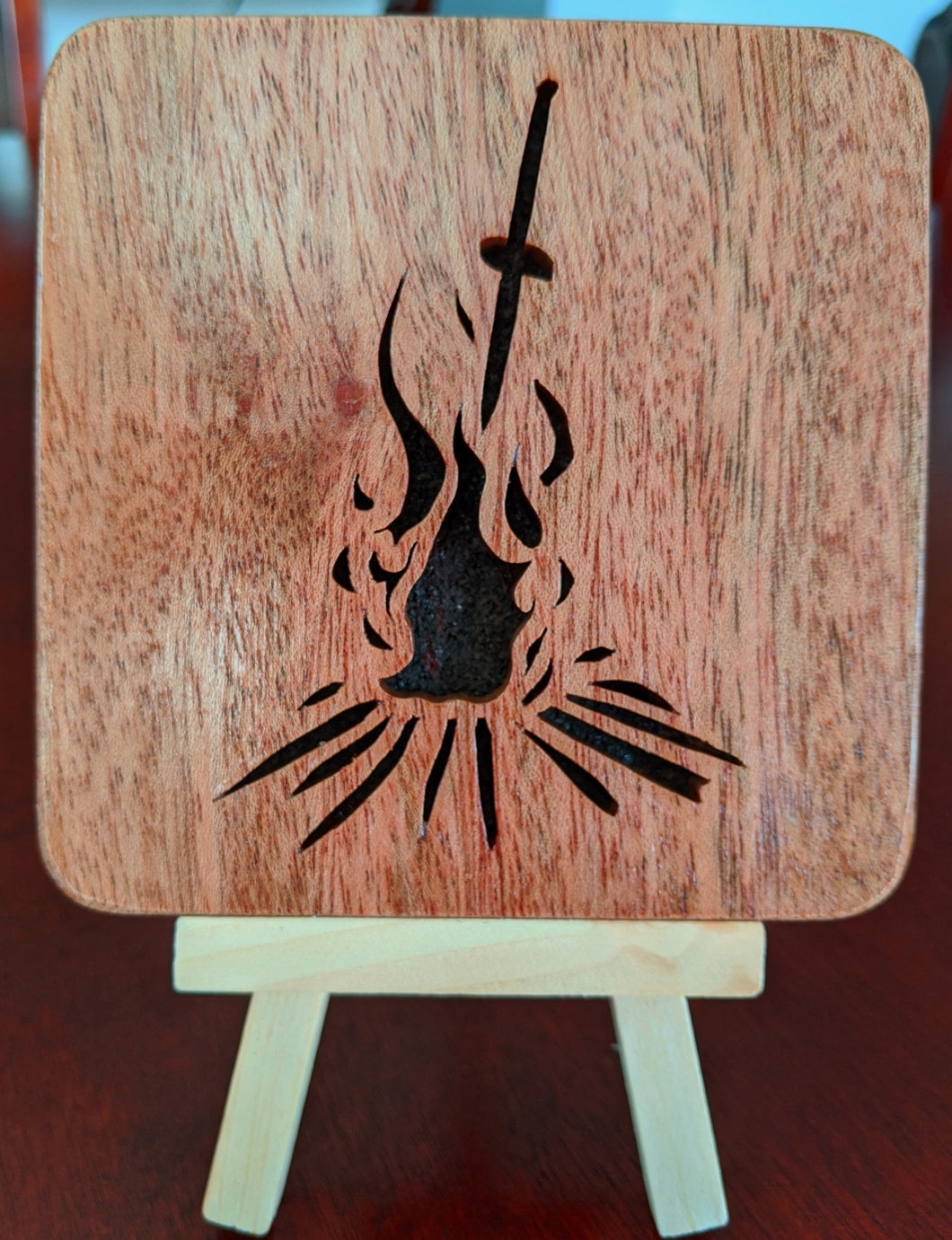 Dark Souls Bonfire Hand Cut Wooden Deskoration