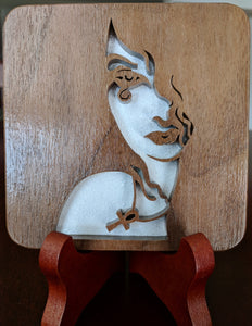 Sandman Death Hand Cut Wooden Deskoration