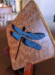 Dragonfly Hand Cut Wooden Deskoration