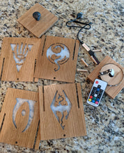 Load image into Gallery viewer, Elder Scrolls Illuminati LED Lightbox, quartersawn white oak