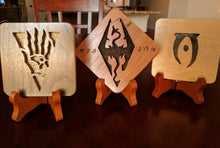 Load image into Gallery viewer, Elder Scrolls Elsweyr Hand Cut Wooden Deskoration