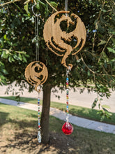 Load image into Gallery viewer, Elsweyr Dragon Wooden Suncatcher