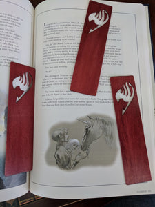 Fairy Tail Scrollsawn Wooden Bookmark