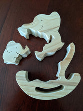Load image into Gallery viewer, Rocker Wooden Puzzle - Mother/Child Elephants