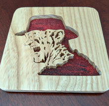 Load image into Gallery viewer, Freddy Krueger Hand Cut Wooden Deskoration