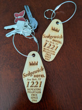 Load image into Gallery viewer, Ghostbusters Sedgewick Hotel Key Fob