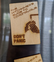 Load image into Gallery viewer, Hitchhikers Guide to Coronavirus Laser Engraved/Cut Magnet