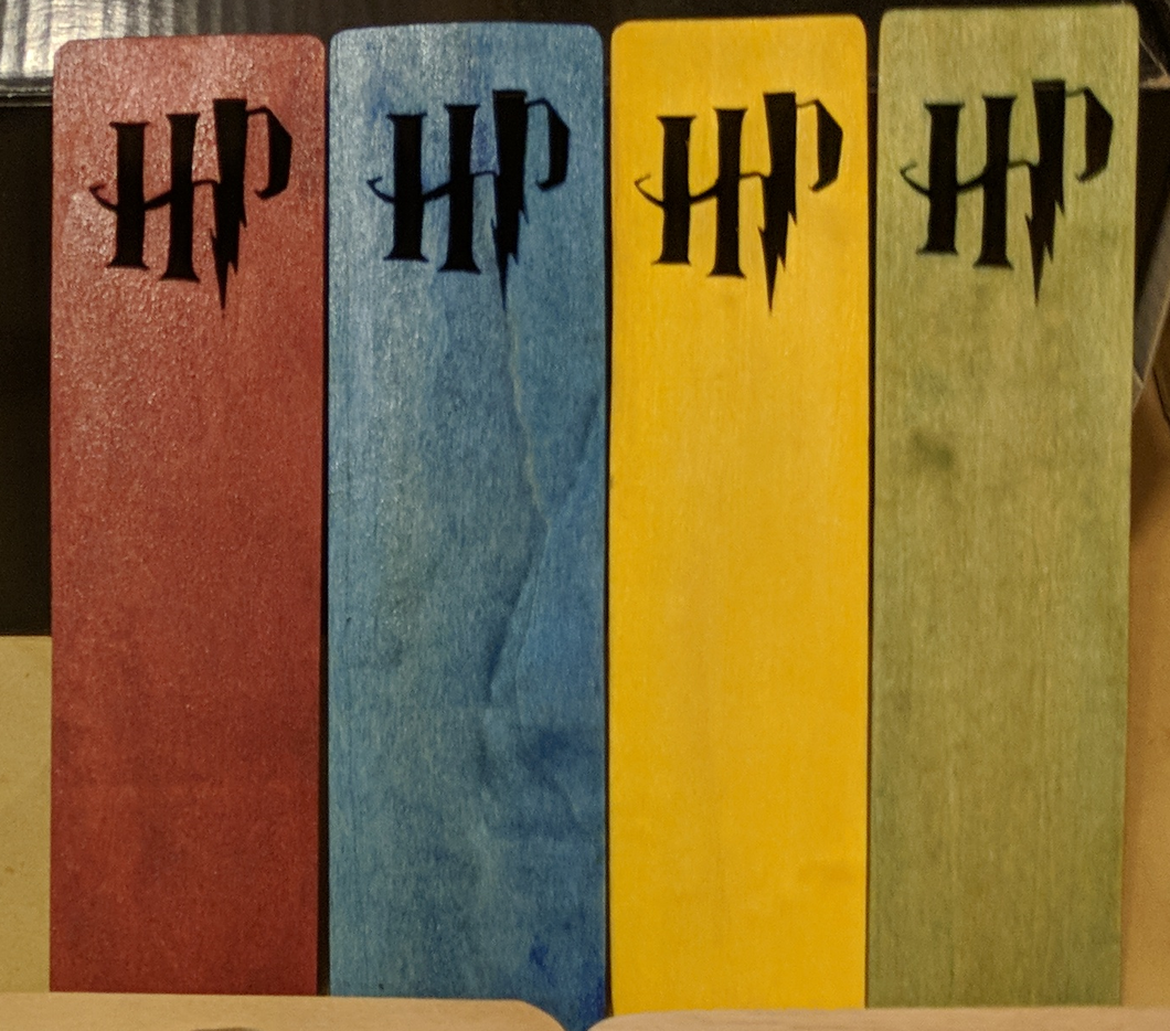 Harry Potter Hand Cut Wooden Bookmark