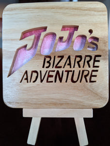 JoJo's Bizarre Adventure! Hand Cut Wooden Deskoration