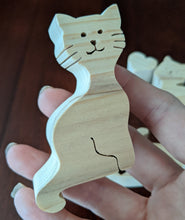 Load image into Gallery viewer, Rocker Wooden Puzzle - Heart Cat