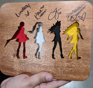 Team RWBY Scrollsawn Plaque