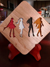 Load image into Gallery viewer, RWBY: Ruby Rose Emblem Hand Cut Wooden Deskoration