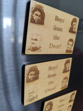Load image into Gallery viewer, Red Dwarf Laser Engraved Magnet