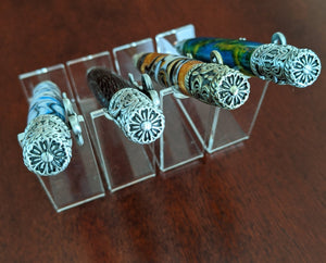 Skeleton Key Antique Pewter Hand Turned Twist Pens