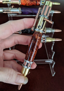 Steampunk Hand Turned Bolt-Action Pen