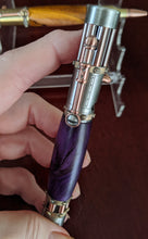 Load image into Gallery viewer, Steampunk Hand Turned Bolt-Action Pen