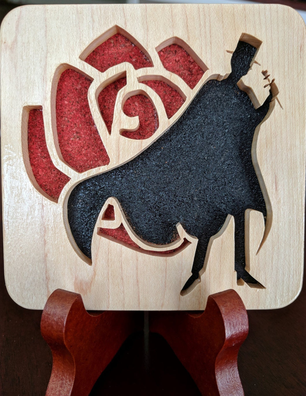 Sailor Moon Tuxedo Mask Hand Cut Wooden Deskoration