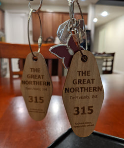 Twin Peaks - Great Northern Hotel Key Fob