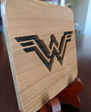 Load image into Gallery viewer, Wonder Woman Hand Cut Wooden Deskoration