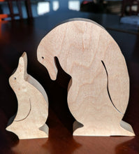 Load image into Gallery viewer, Penguin Family Wooden Puzzle