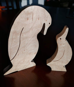 Penguin Family Wooden Puzzle