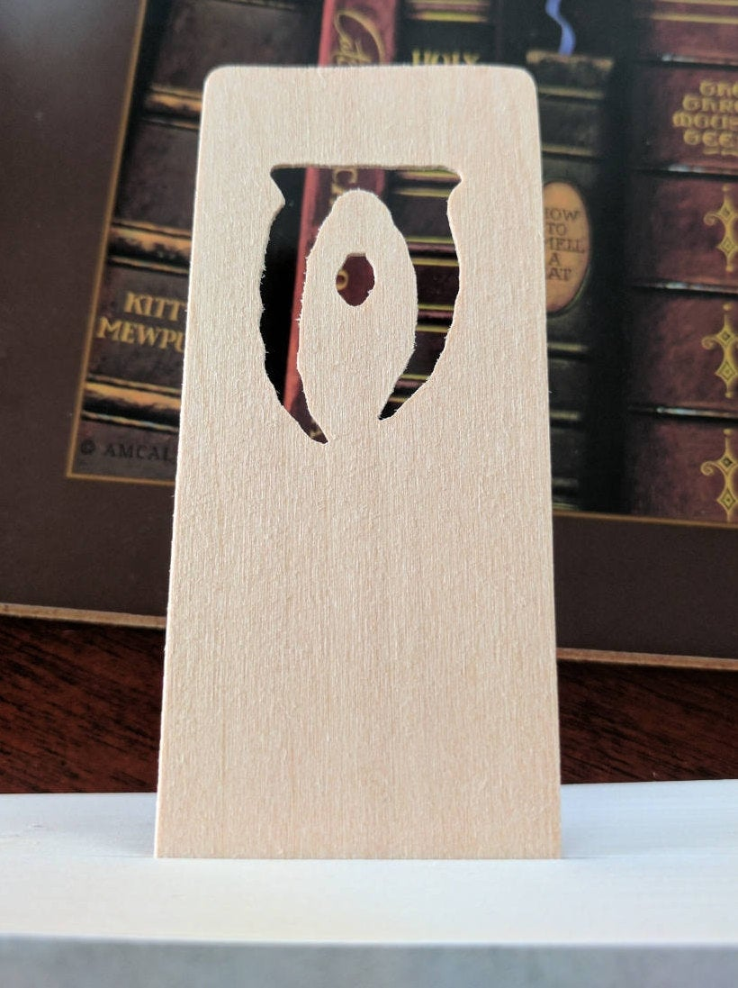 Oblivion Symbol Hand Cut Wooden Bookmark