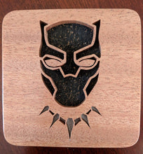 Load image into Gallery viewer, Black Panther Hand Cut Wooden Deskorations
