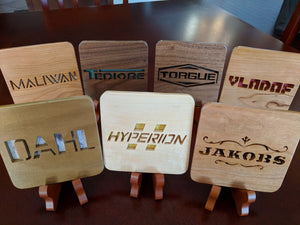 Borderlands Gun Manufacturers: Hyperion! Hand Cut Wooden Deskoration