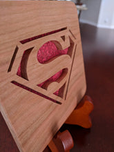 Load image into Gallery viewer, Superman Hand Cut Wooden Deskoration