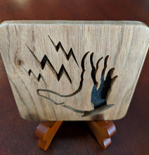 Load image into Gallery viewer, BioShock Plasmid Electro Bolt - Hand Cut Wooden Deskoration