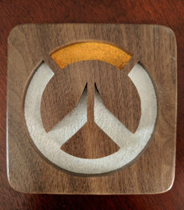 Overwatch Hand Cut Wooden Deskoration