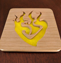 Load image into Gallery viewer, RWBY: Yang Xiao Long Emblem Hand Cut Wooden Deskoration