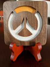 Load image into Gallery viewer, Overwatch Hand Cut Wooden Deskoration