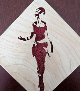 Borderlands Lilith Hand Cut Wooden Deskoration