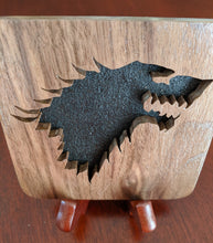 Load image into Gallery viewer, Game of Thrones: Stark Hand Cut Wooden Deskoration
