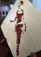 Load image into Gallery viewer, Borderlands Lilith Hand Cut Wooden Deskoration