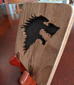 Game of Thrones: Stark Hand Cut Wooden Deskoration