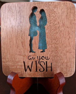 Princess Bride Hand Cut Wooden Deskoration