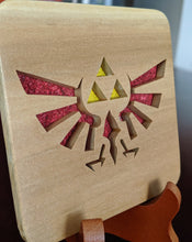 Load image into Gallery viewer, Legend of Zelda Triforce Hand Cut Wooden Deskoration
