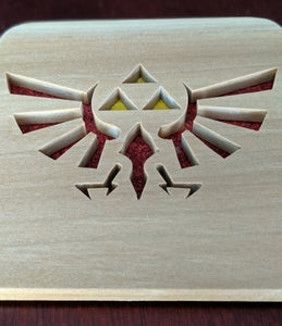 Legend of Zelda Triforce Hand Cut Wooden Deskoration