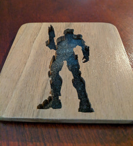 Halo Master Chief Hand Cut Wooden Deskoration