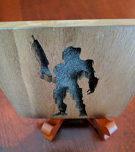 Load image into Gallery viewer, Halo Master Chief Hand Cut Wooden Deskoration