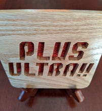 Load image into Gallery viewer, My Hero Academia Plus Ultra! Hand Cut Wooden Deskoration