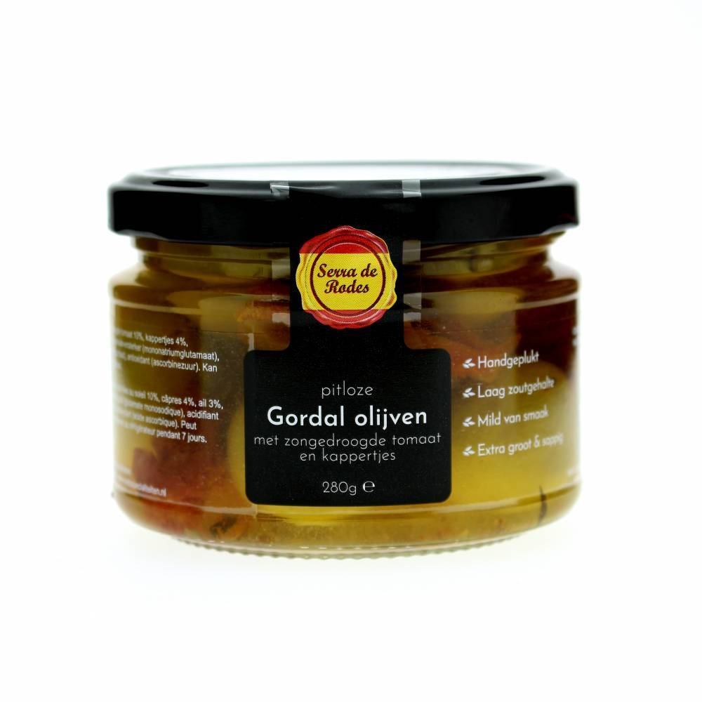 Serra de Rodes Olives with garlic, kapers & sundried tomatoes 280 gr
