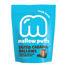 Mallow Puffs Salted Caramed in dark chocolate 100 gr